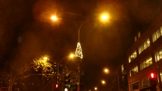 Picture of Christmas lights in Shepherds Bush
