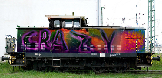 Picture of crazy train