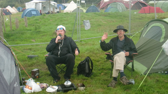 Des and Tony at Green Man