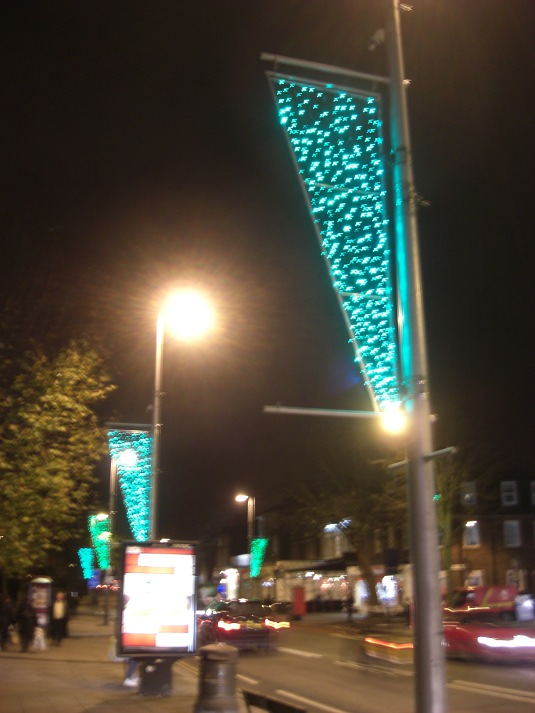 Picture of Christmas lights in Ealing