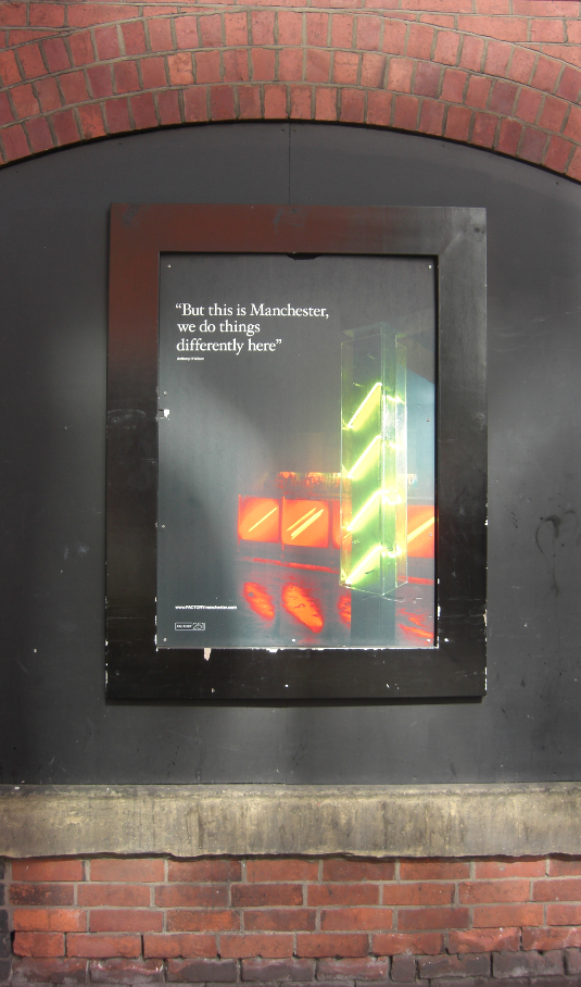 Picture of sign outside FAC251: The Factory Manchester