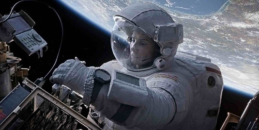 Still fron the brilliant film Gravity