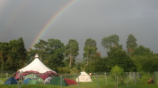 Rainbow at Green Man