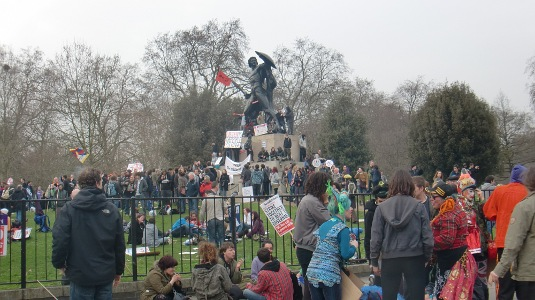 Picture of Hyde Park during the TUC March for the Alternative on 26 March 2011