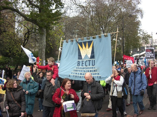 Picture of London public sector rally