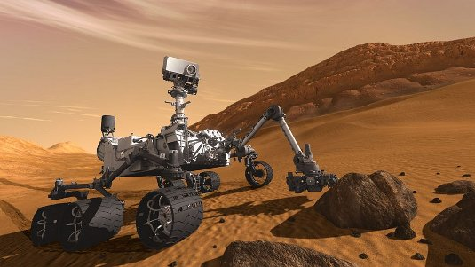 Artists impression of Mars Science Lab Curiosity