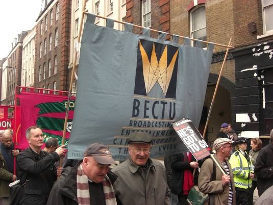 Picture of BECTU at May Day 2012