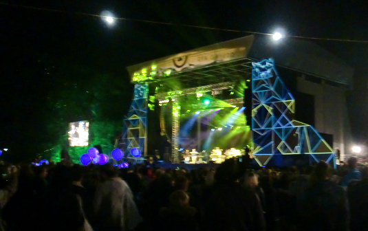 Hot Chip on the Mountain Stage at Green Man Festival 2015