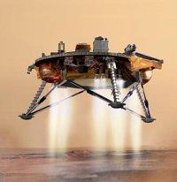 Artists impression of Ploenix Lander landing