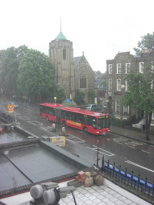 Picture of rain in London W12