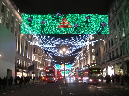 Picture of Christmas lights in Regent Street