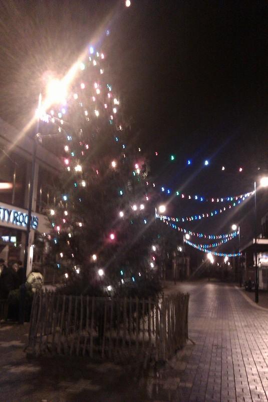 Picture of Christmas lights in Stalybridge