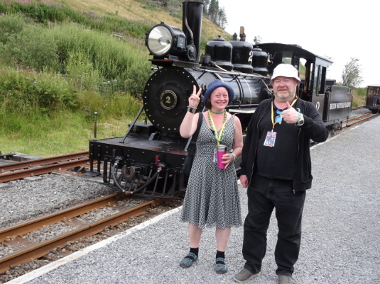 Christina and Tony and steam train