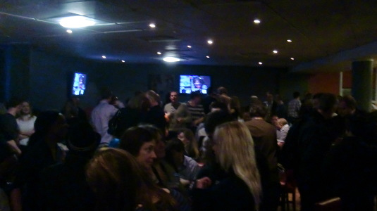 Picture of upstairs at Television Centre BBC Club bar