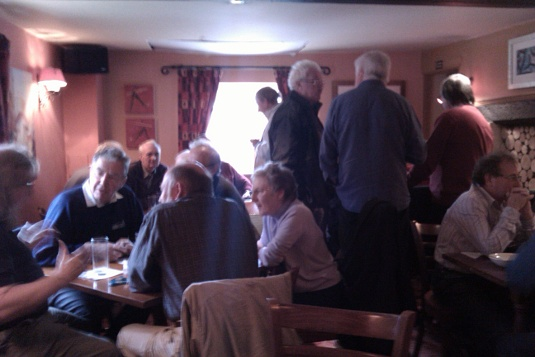 Picture of Tech Ops types at the Coach and Horses on 2 November 2010