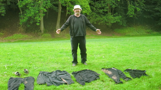Tony at Llangenny camp site