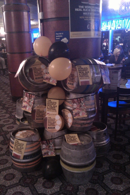 Picture of beer festival display at Wetherspoons Shepherds Bush