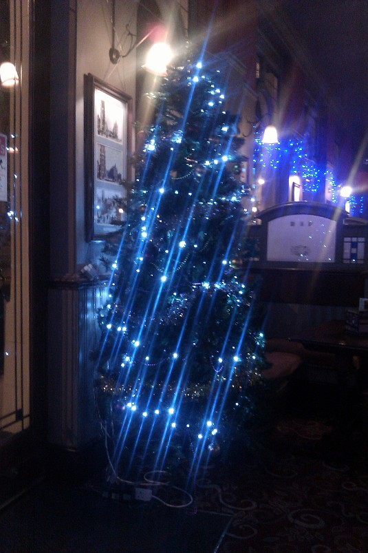 Picture of Christmas tree at Red Lion and Pineapple 2011