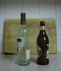 Picture of beer and wine bottles