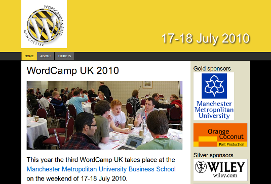 WordCamp UK 2010 site