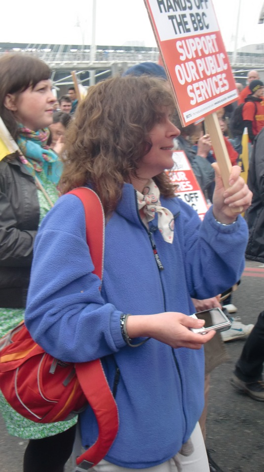 Picture of Yvonne Wootton during the TUC March for the Alternative on 26 March 2011