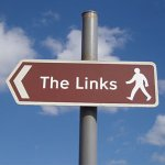 Picture of golf links sign