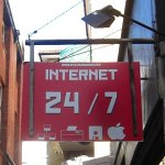 Picture of internet 24-7 sign