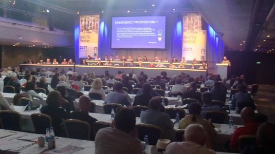 Wide shot of BECTU Conference 2017