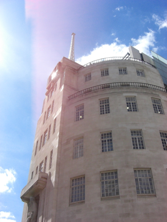 Picture of BBC Broadcasting House on 30 June 2008