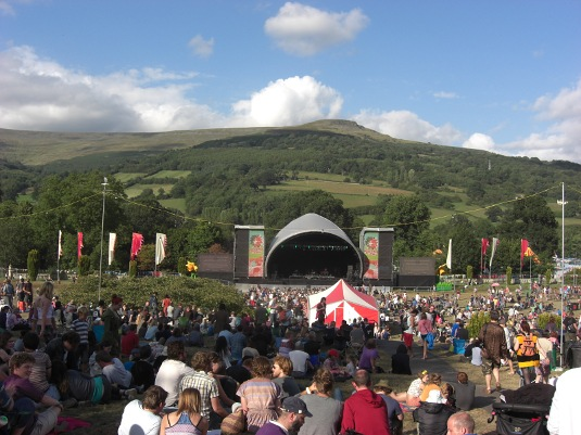 Picture of main stage at Green Man Festival 2011