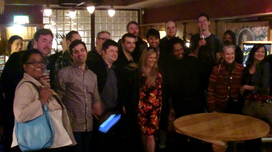 Picture of attendees at London WordPress 10th Anniversary Party
