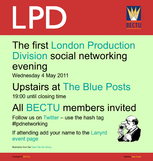 Screenshot of LPD May 2011 networking site