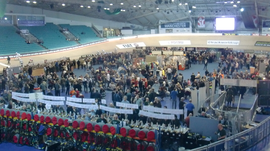 Wide shot picture of Manchester Beer and Cider Festival 2014