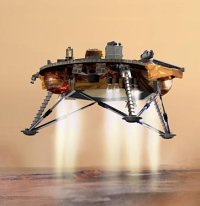 Artists impression of Ploenix Lander landing
