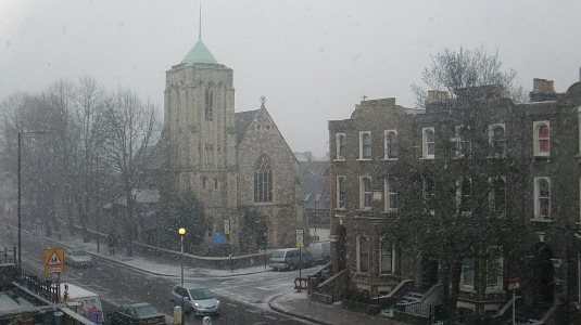Picture of snow in Shepherds Bush