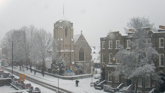 Picture of more snow in Shepherds Bush