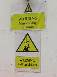 Picture of two building signs