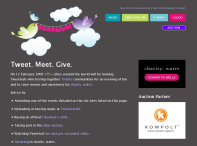 Picture of Twestival home page