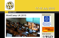 Picture of WordCamp UK 2010 home page